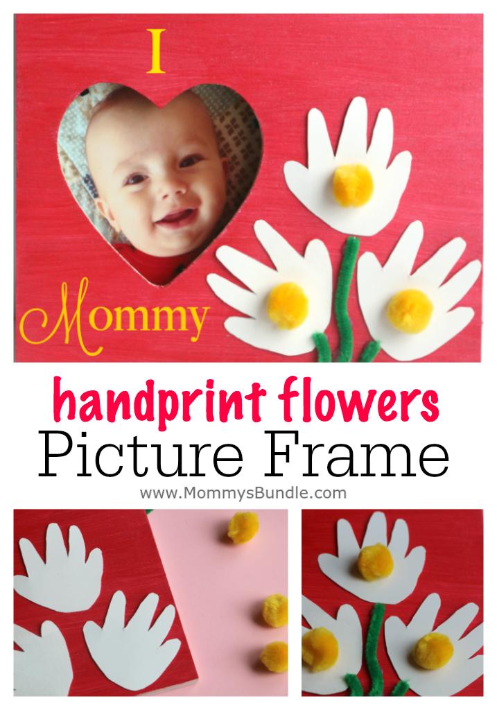 Mommy Frames: Handprint Flower Picture Frame To Make For Mom