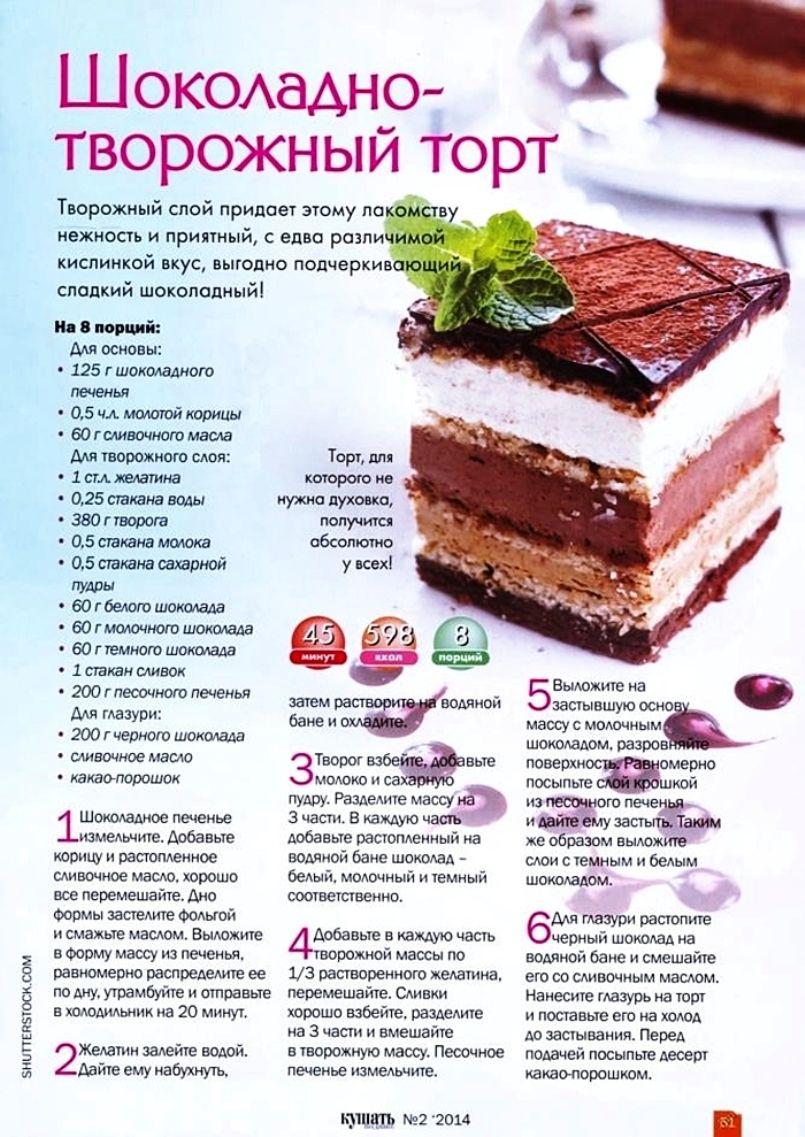 Картинки рецептов торта