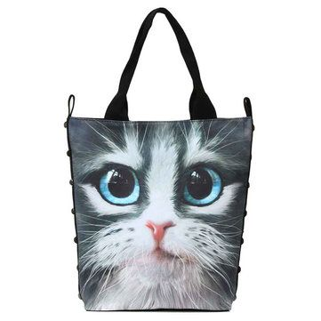 Women 3D Animal Cat Totes Casual Rivet Shoulder Bags Large Capcity Shopping  Bags - US 20.69 b52108ccabfa2