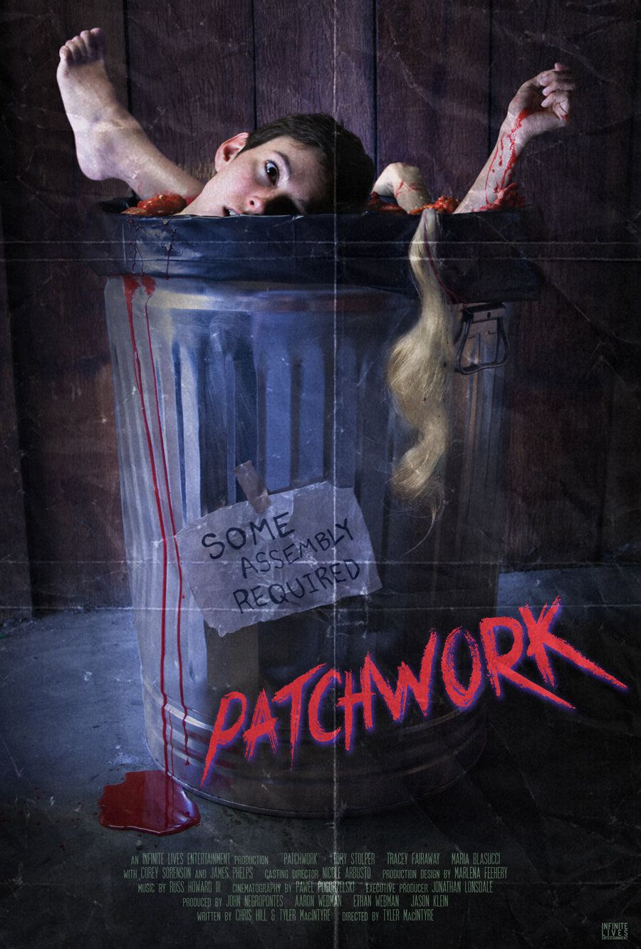 Patchwork___________  A bombastic throw-back horror-comedy that follows three young women who go out partying one night and find themselves Frankensteined together in one body. Now they must put aside their differences so they can find who did this and exact revenge!  RELEASE DATE 2015