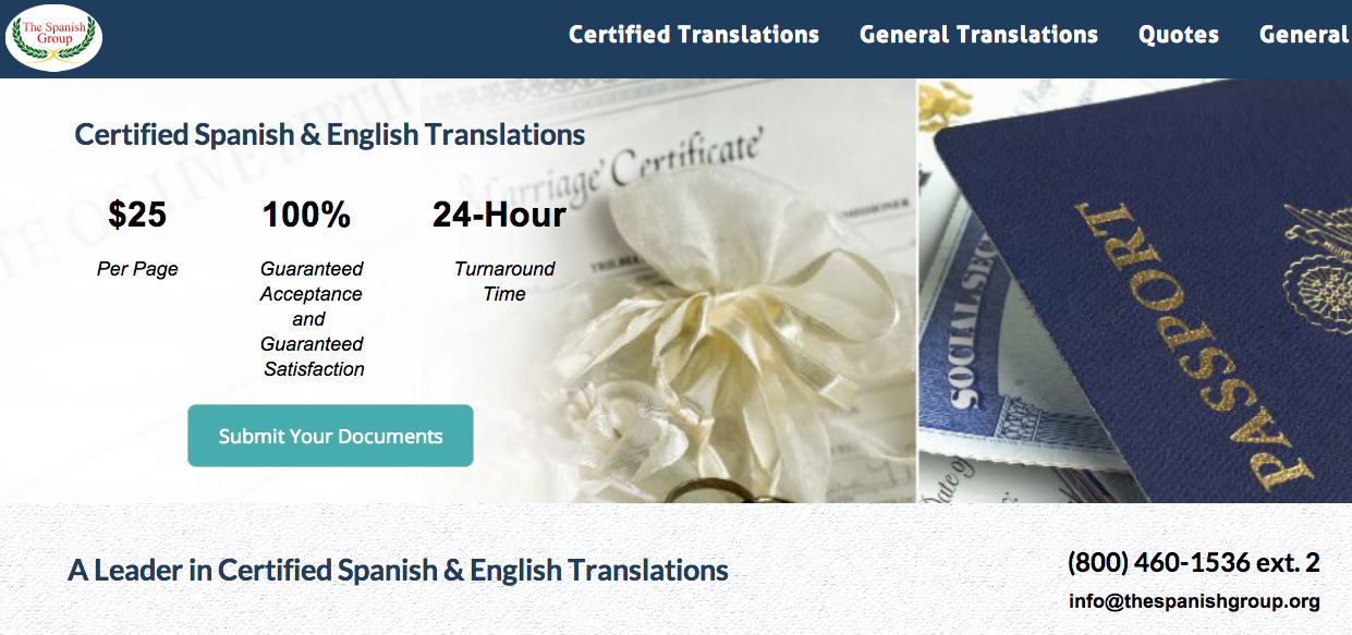 The Spanish Group Is A Leader In Certified Spanish And English
