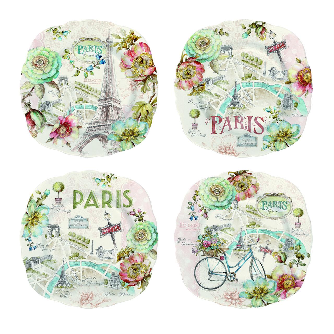 PARIS SET OF 4 PLATES | Bowring  sc 1 st  Pinterest & PARIS SET OF 4 PLATES | Bowring | Paris Decor | Pinterest | Paris ...