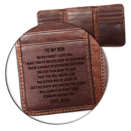 55535fc3101 Mom to son wallet