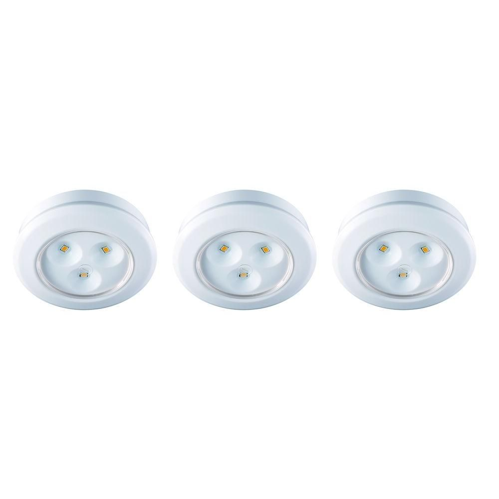 Commercial Electric Under Cabinet Lighting Commercial Electric 299 Inled White Battery Operated Puck Light