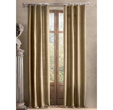want to get a custom drapery look for the price of store bought drapes and hardware donu0027t thread the rod through the drapes pole pocket