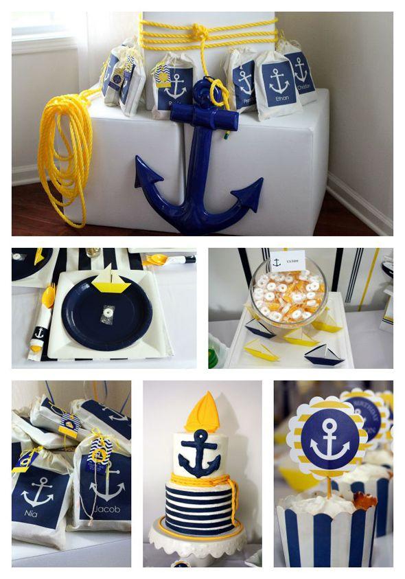 Preppy Boy Nautical Birthday Party Preppy boys, Birthdays and - baby shower nia