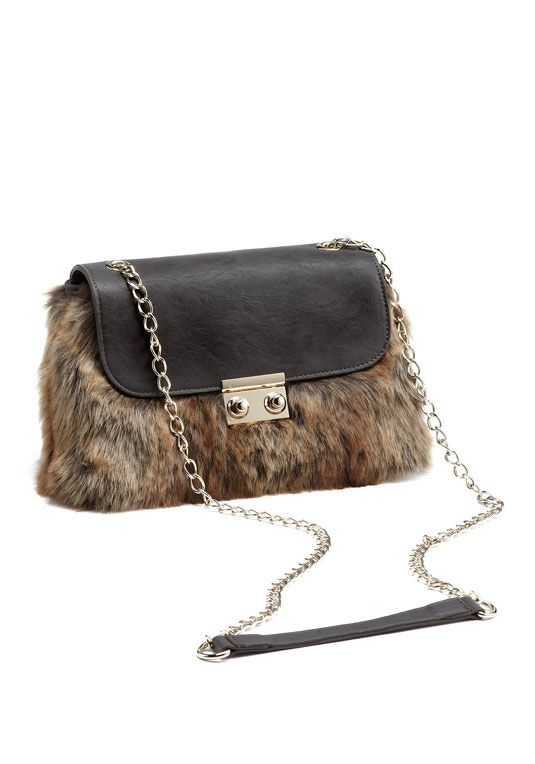 ed2dcf2792fb Coyote Faux Fur Shoulder Bag