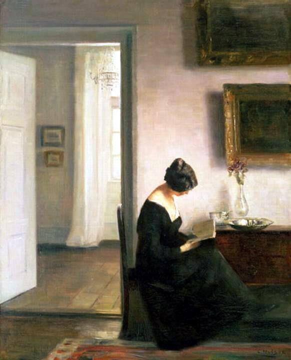 Woman Reading - Carl Vilheim Holsoe