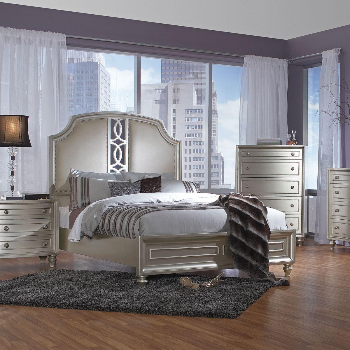 Regency Park Platinum 5 Pc King Bedroom Bedroom Sets In