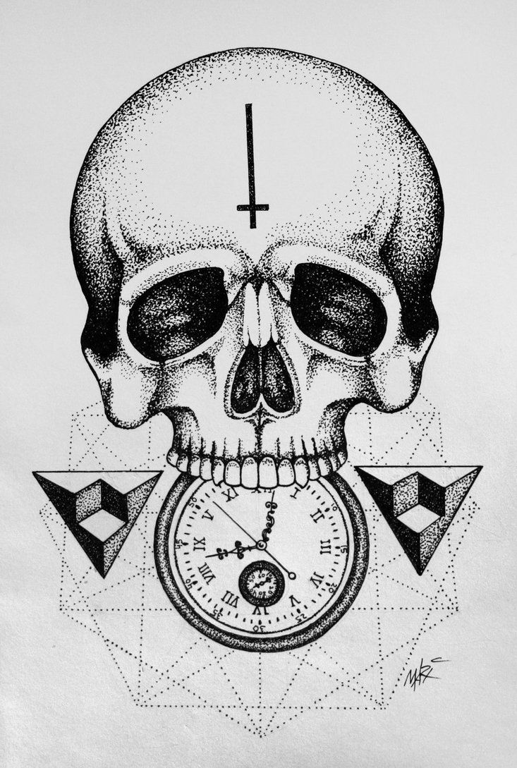 Time To Die Dotwork Tattoo By Marymarylp On Deviantart