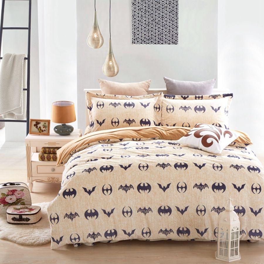 Batman Bedding Set Duver Cover Flat Sheet Pillow Cases Soft 4pcs