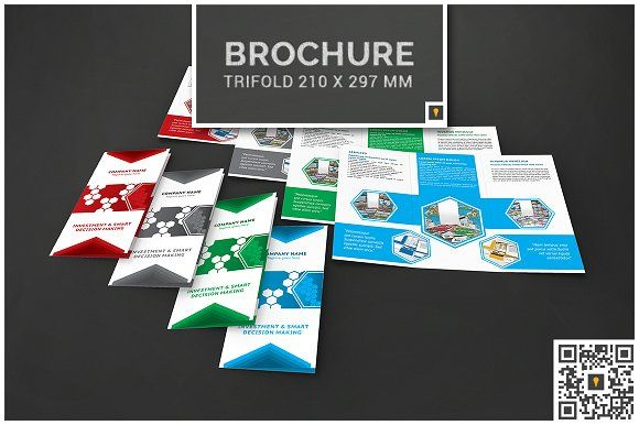 Corporate Hive Trifold By SMART Shop On Creativemarket Brochure - Brochure template maker