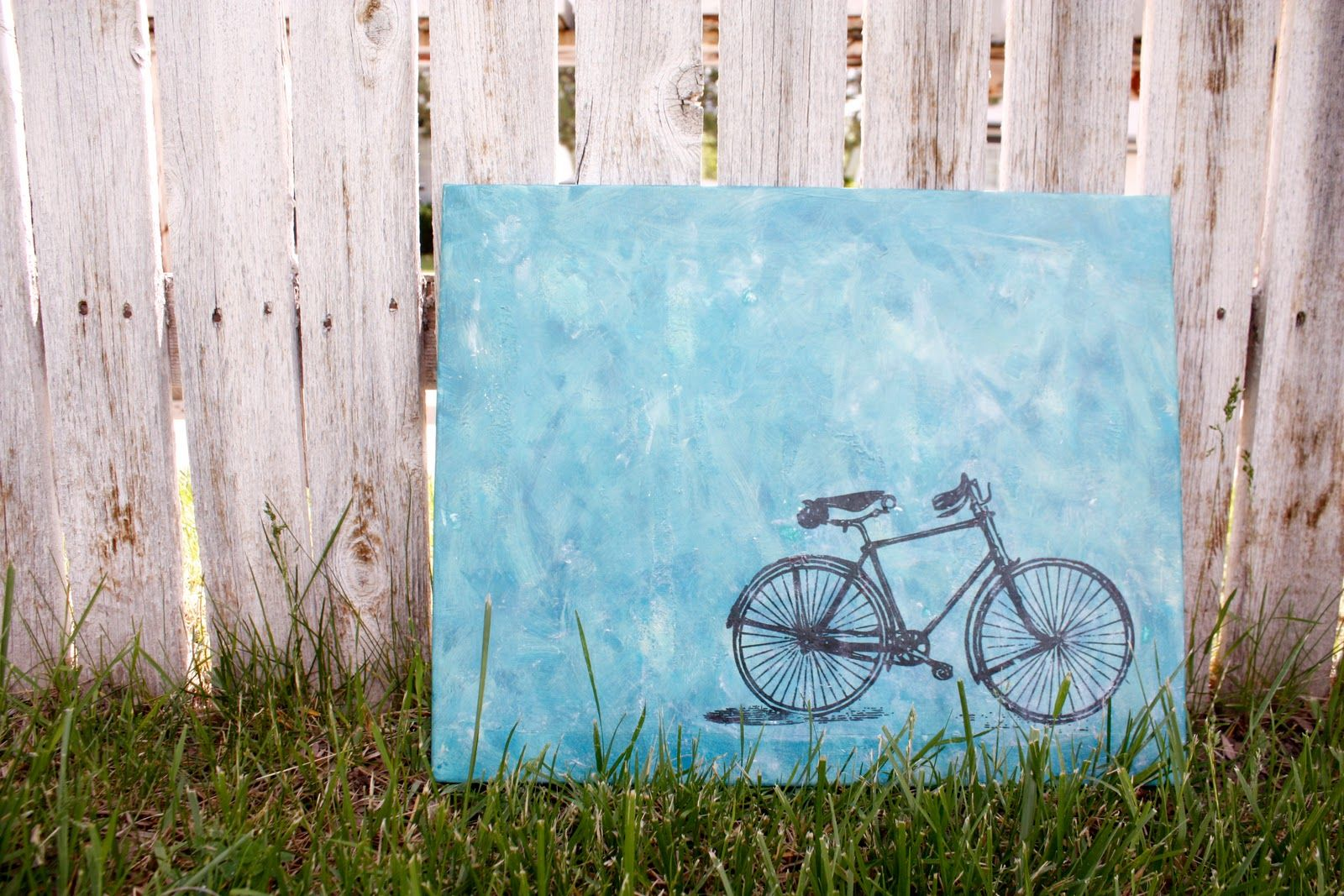 Diy Bicycle On Canvas 1 Paint Canvas Background To Your Liking