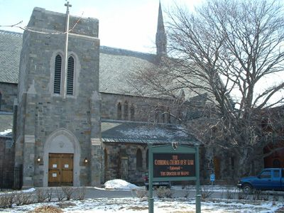 Maine St Luke S Episcopal Cathedral In Portland Me From Your Trinity Stores Crew With Images Cathedral Romanesque Catholic Church