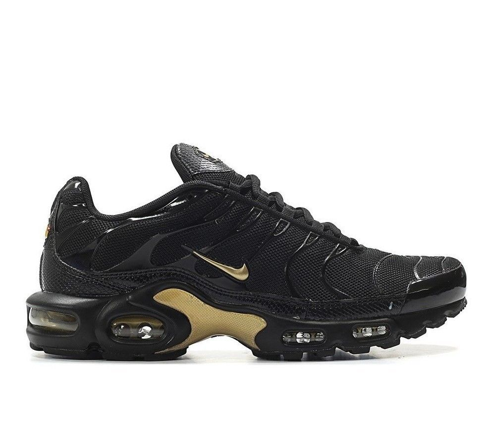 designer fashion b4a4e 510eb Nike Air Max Plus TN Men s Shoes Size 9 US Black Gold  Nike