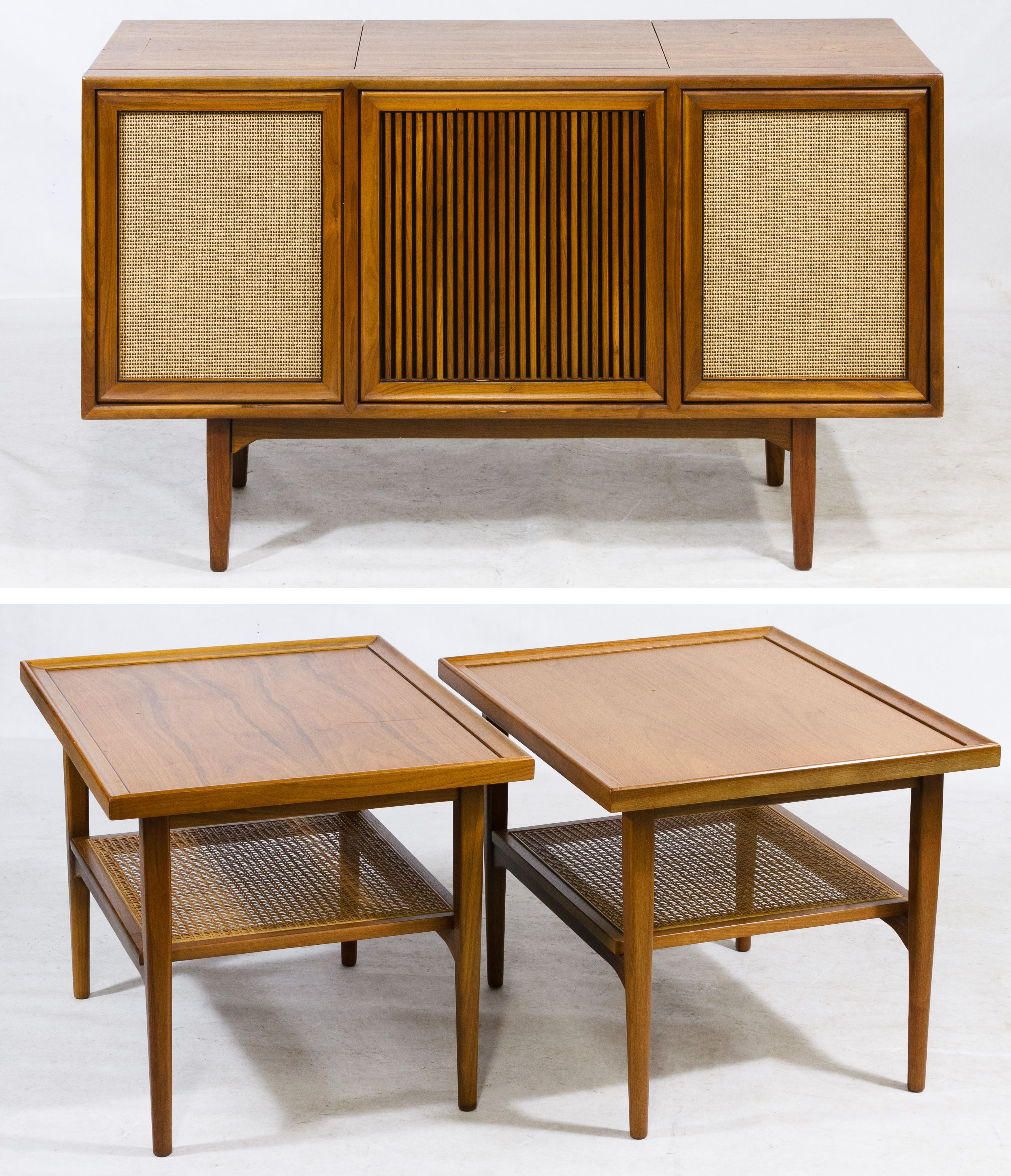Pleasant Lot 121 Mid Century Modern End Tables And Stereo Cabinet By Interior Design Ideas Gentotryabchikinfo