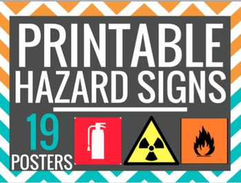 Printable Hazard Signs Lab Safety Science Posters 19 Posters Hazard Sign Lab Safety Science Poster