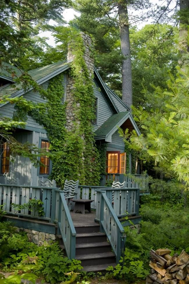 Bluepueblo Forest House South Casco Maine Photo Via Alexis Forest House House In The Woods Beautiful Homes