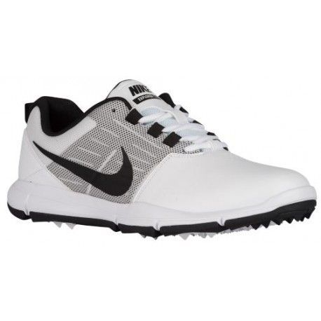 Nike Explorer SL Golf Shoes - Men's - Golf - Shoes - White/Pure Platinum/ Black-sku:04694100 | Mens golf shoes, Mens golf and Golf shoes