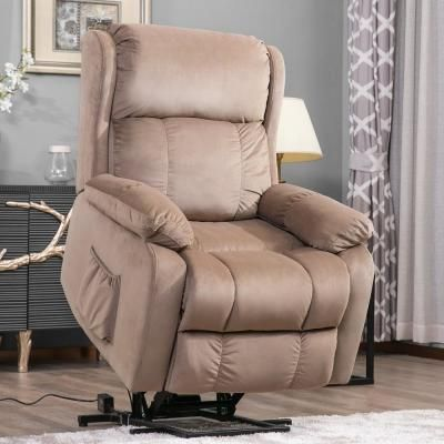 Phenomenal Merax Beige Soft Fabric Upholstery Power Lift Chair With Gmtry Best Dining Table And Chair Ideas Images Gmtryco