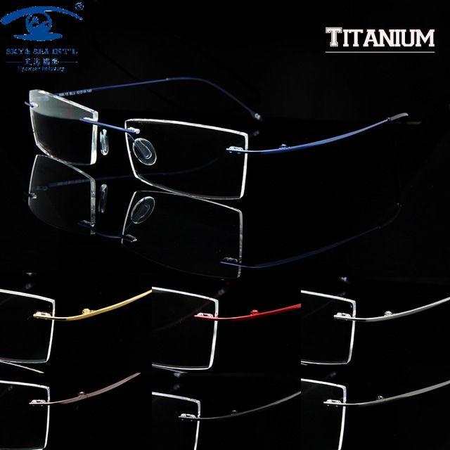 Homem mulheres memória titanium sem aro armações de óculos para homens  óculos óculos óculos oculos de c764f6faba