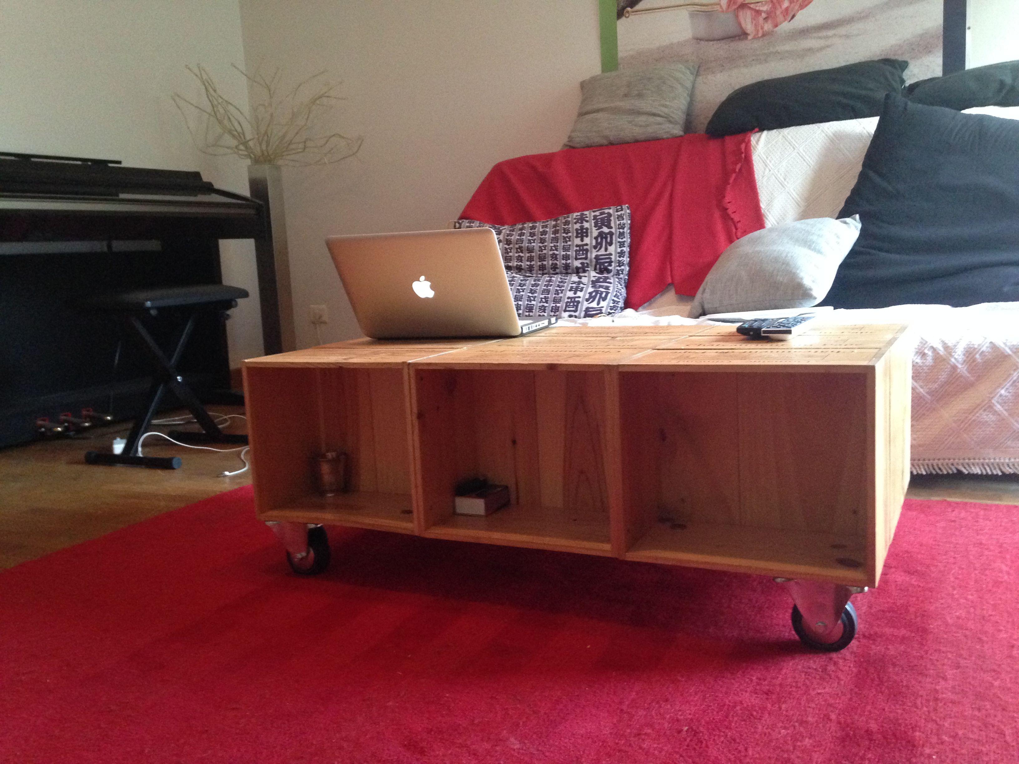 fabriquer table basse avec caisse en bois. Black Bedroom Furniture Sets. Home Design Ideas