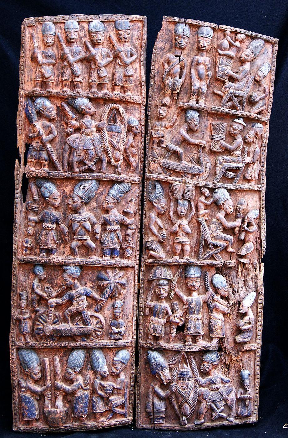 Africa the yokura people palace door of nigeria