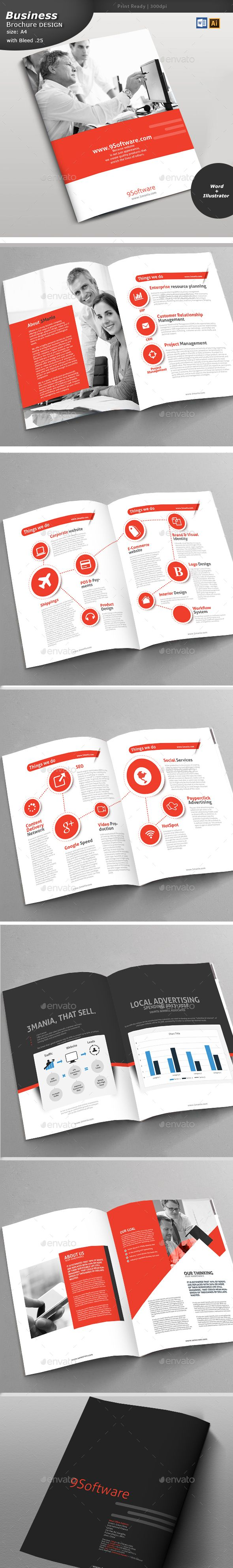 Erp Services Brochure Design  Brochures Brochure Template And