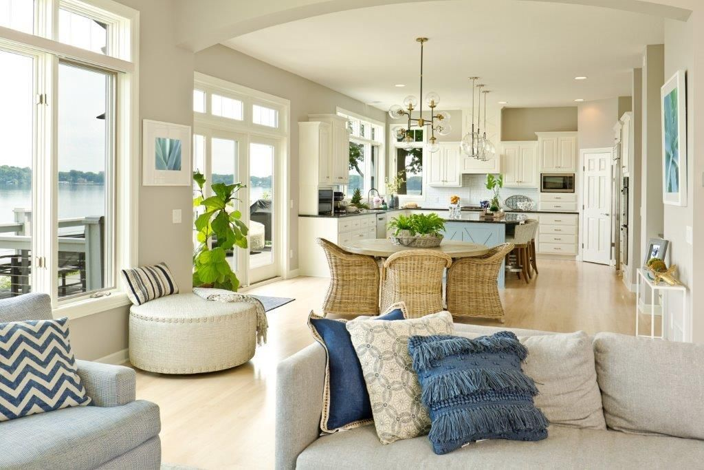 Staging Your Home Inexpensively Open Concept Kitchen Living Room Interior Design Livingroom Layout