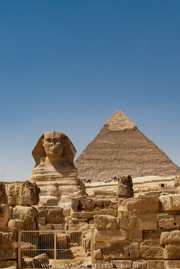 The famous Sphinx near the Pyramids of Giza. Click for more amazing places to see in Egypt.  #egypt #outdoors  #photography #travel #traveltips #travelguide #explore #wanderlust #bucketlist #architecture #PlacestoSee