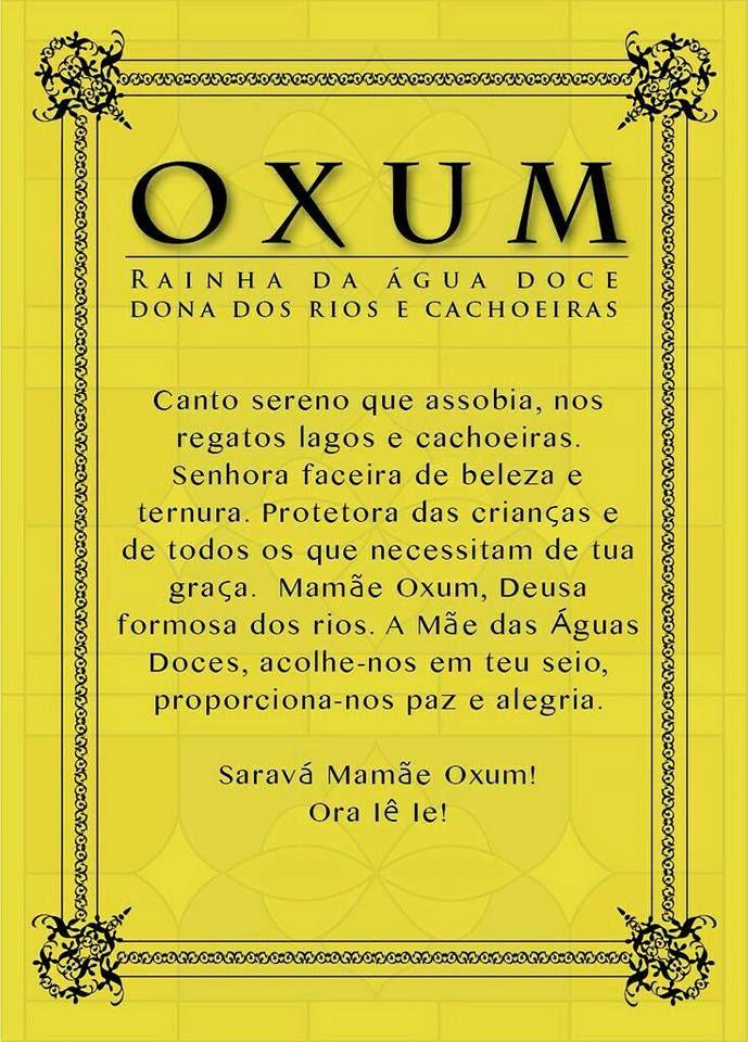 8 De Dezembro Dia De Oxum Fé Pinterest Orixá Umbanda E Religião