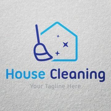 mira unos tipos de logos para empresas de limpieza variados