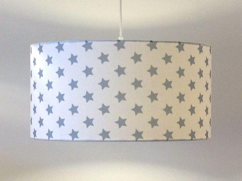Kinderzimmer sterne blau  Lampenschirm Super Sterne blau von lillyberlin auf DaWanda.com ...