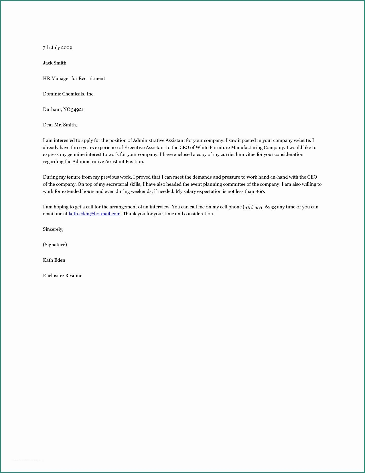 27 Administrative Assistant Cover Letter Examples Cover Letter For Resume Administrative Assistant Cover Letter Job Cover Letter