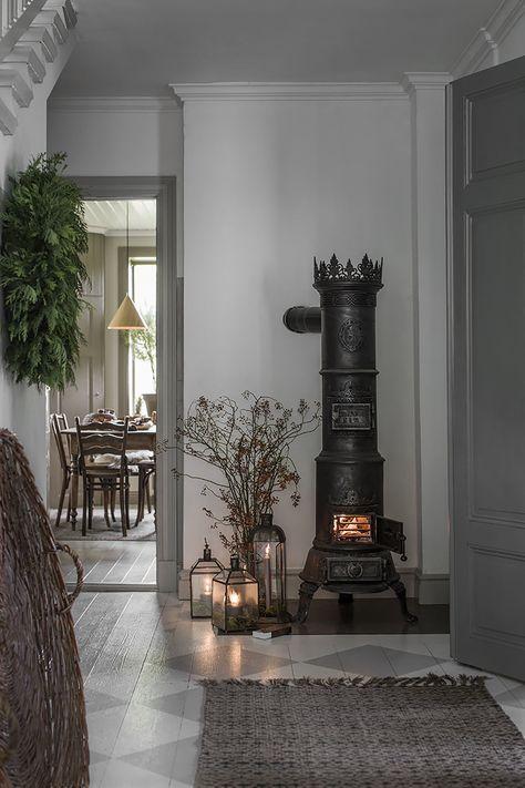 Rustikale Kamine rustikaler kamin modern einladend und gemütlich dekoriert kamin