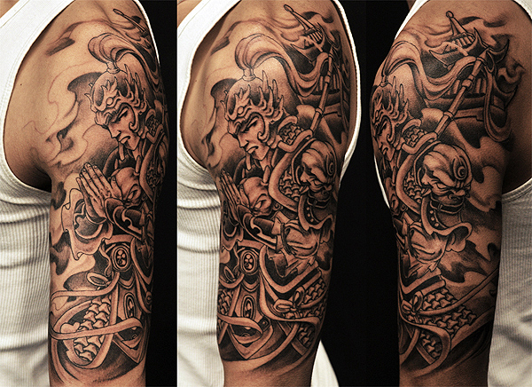 Asian Black And Grey Archives Chronic Ink Warrior Tattoo Sleeve Tattoos Half Sleeve Tattoos Black