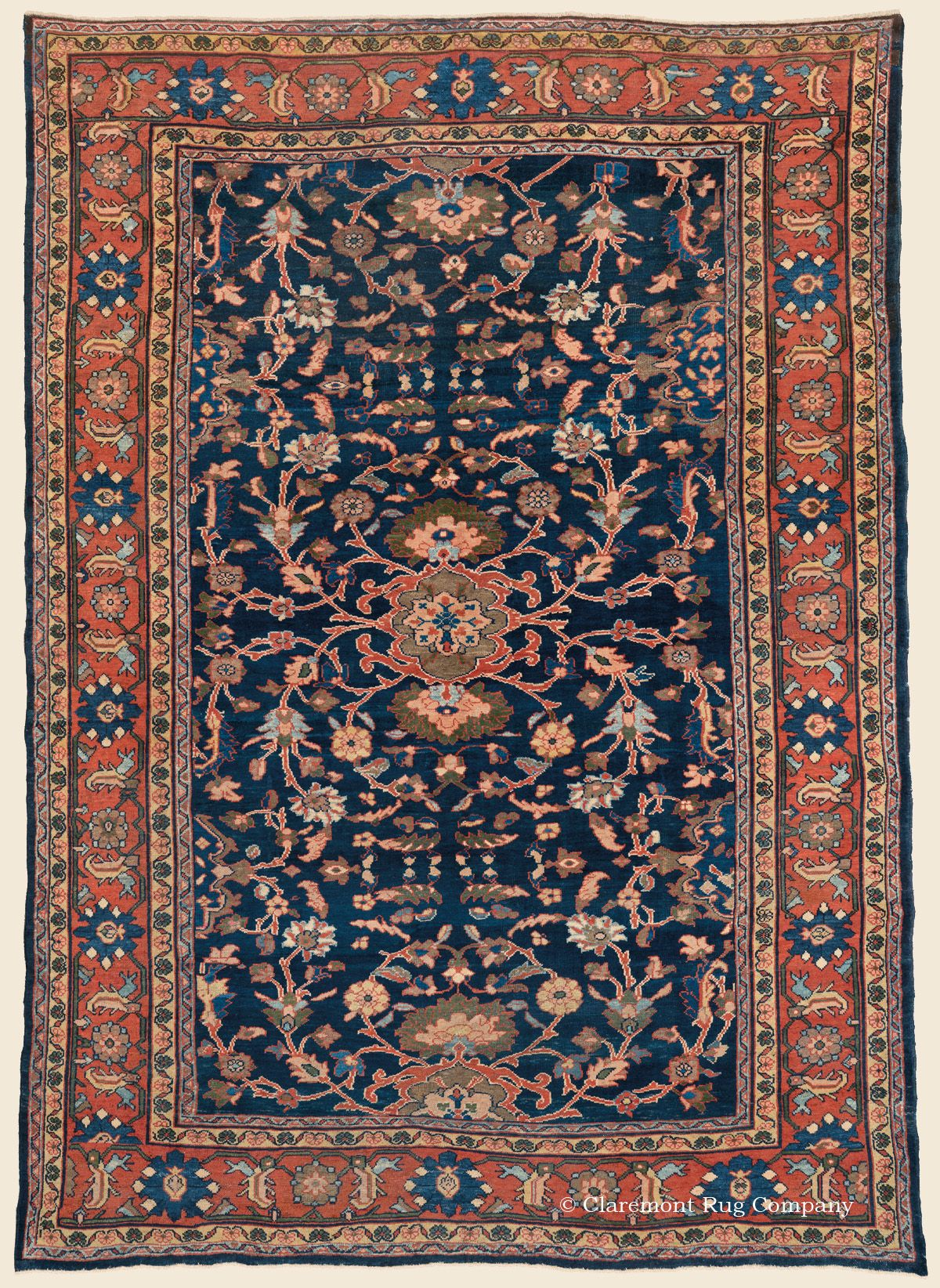 Mahal 8 10 X 12 3 Circa 1910 Price 16 000 West Central Persian Antique Rug Claremont Rug Compan Antique Persian Carpet Rugs On Carpet Antique Rugs