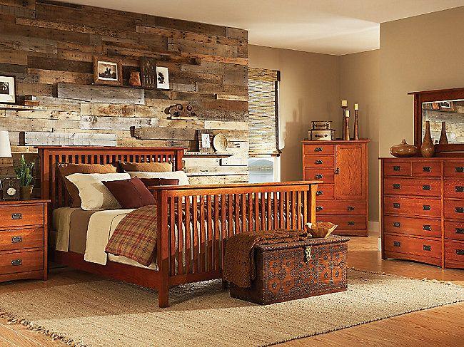 Best American Mission Ii Queen Bedroom Suite Hom Furniture 400 x 300