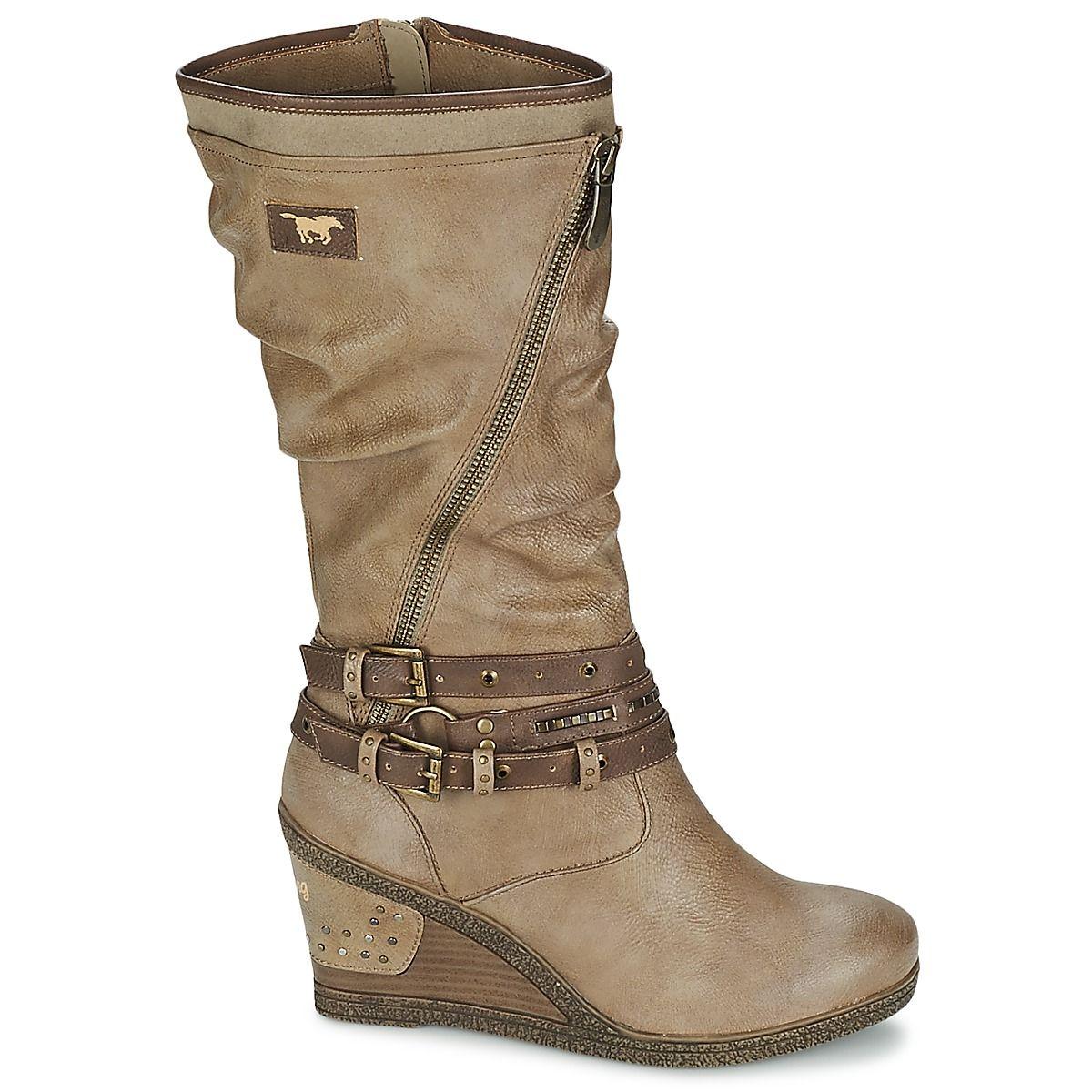 Kozaki Damskie Mustang Shoes 37c 026 Jesien Zima 2015 2016