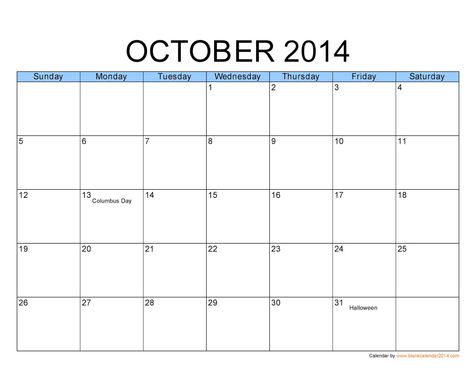 calendar home 2014 | Download free big size printable monthly ...