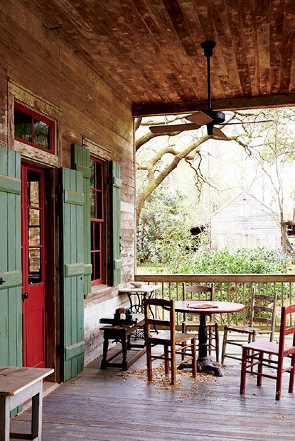 southern front doorsStep Inside the Ultimate Bayou Cottage  Southern front porches