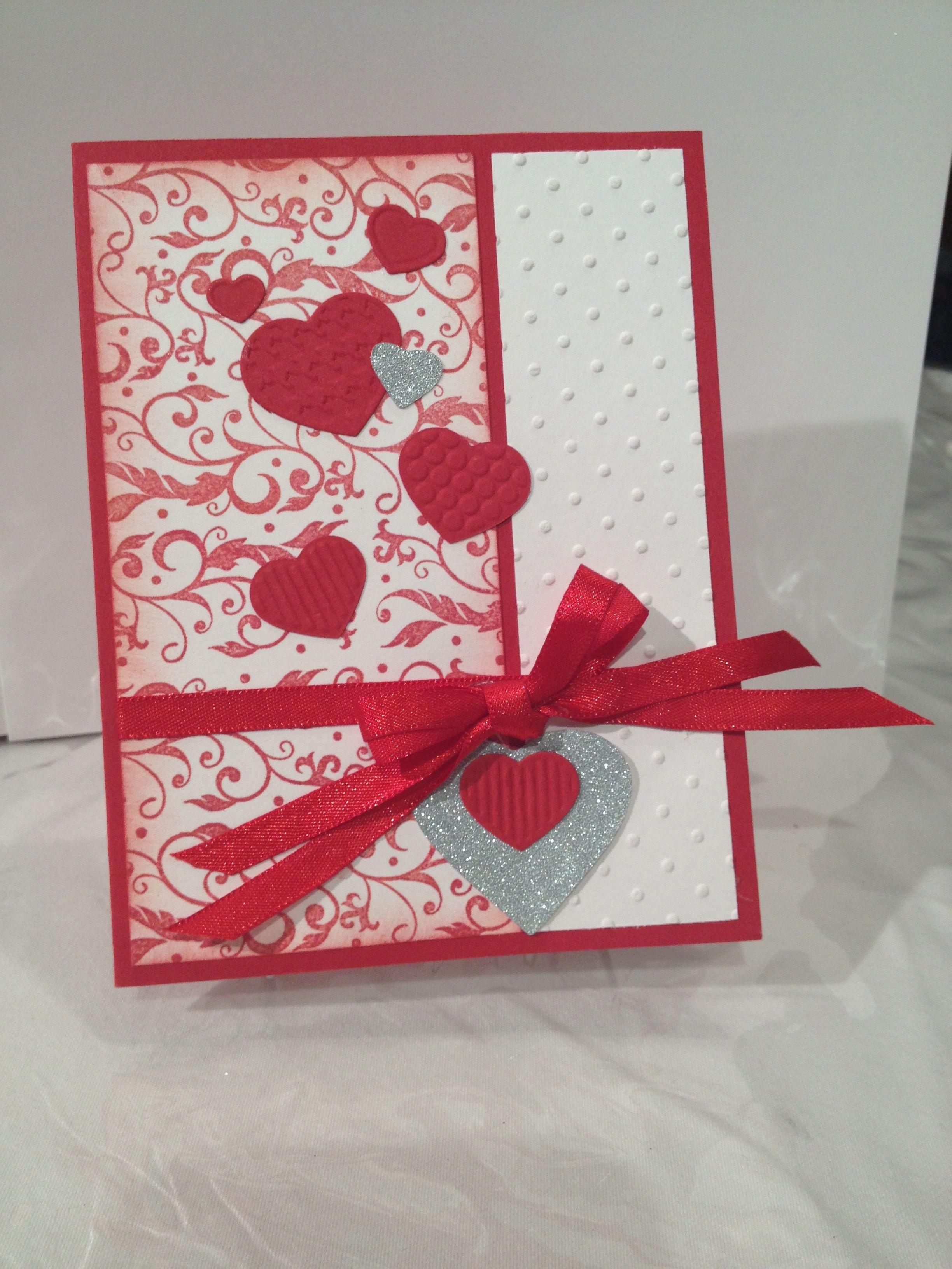 Valentine card | Valentines cards, Embossed cards ...