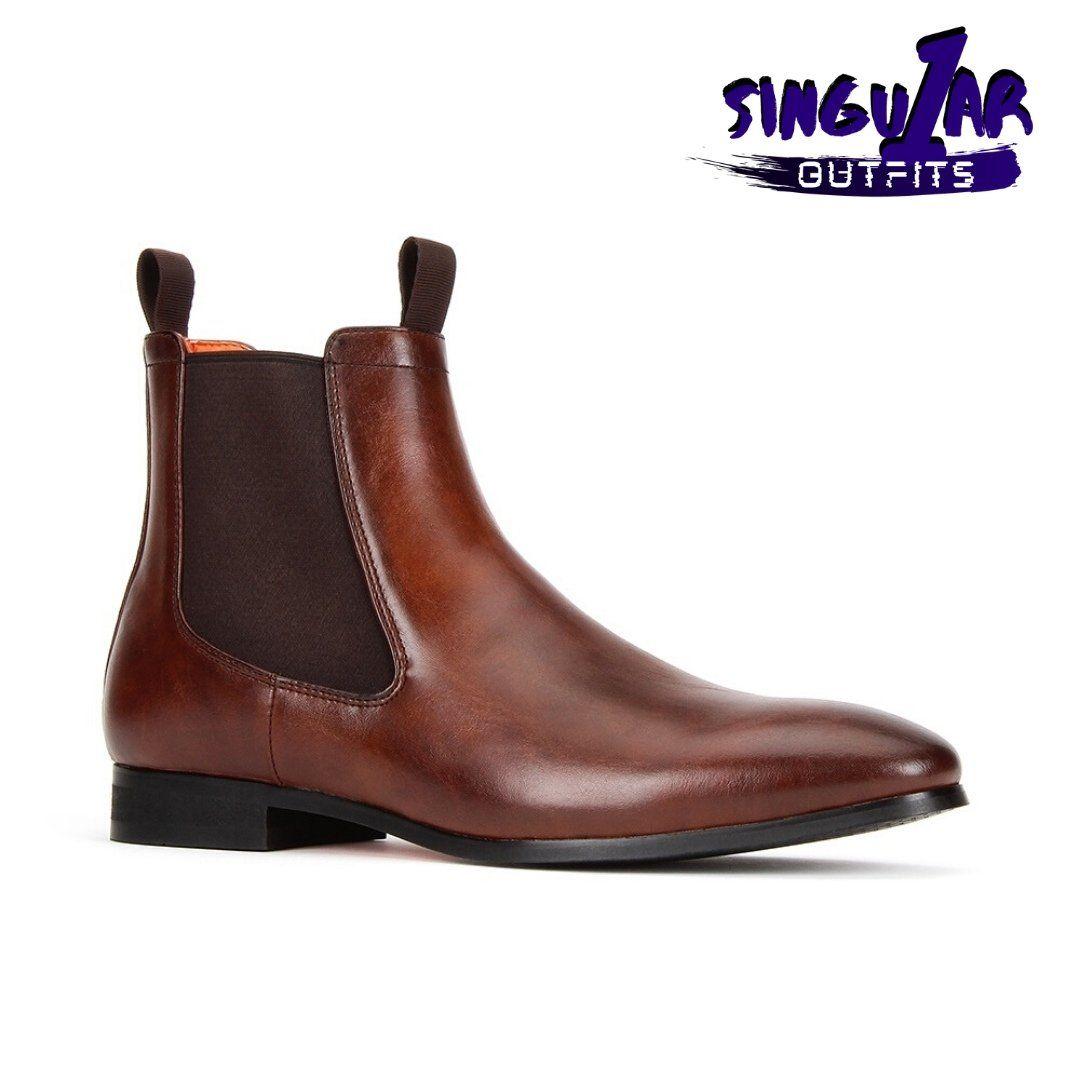 SL-B745 Black  Men's Shoes Singular Outfits Zapatos para Hombre Santino Luciano Shoes – 11 / Brown