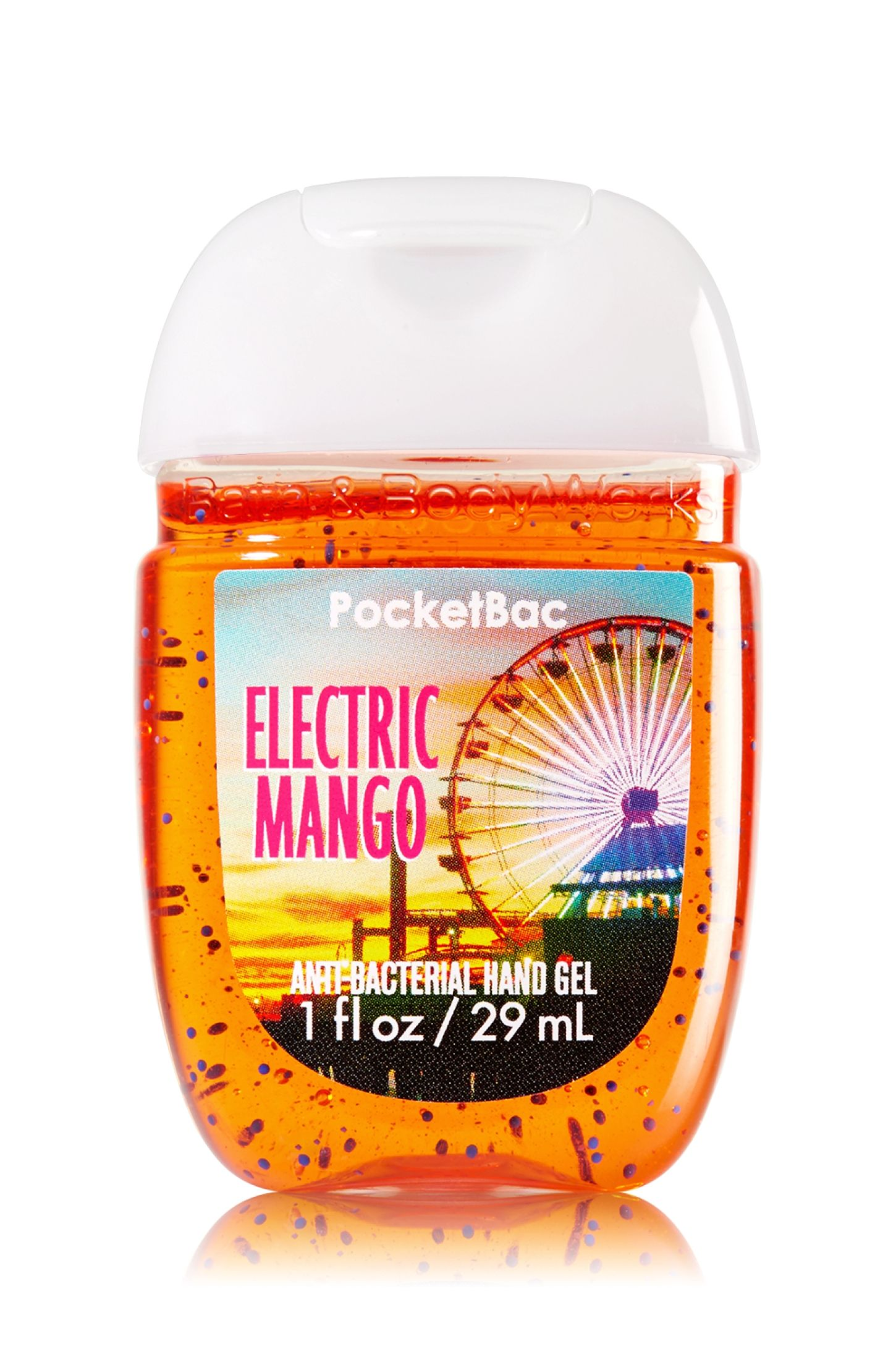 Bath Body Works Electric Mango Pocketbac Sanitizing Hand Gel A