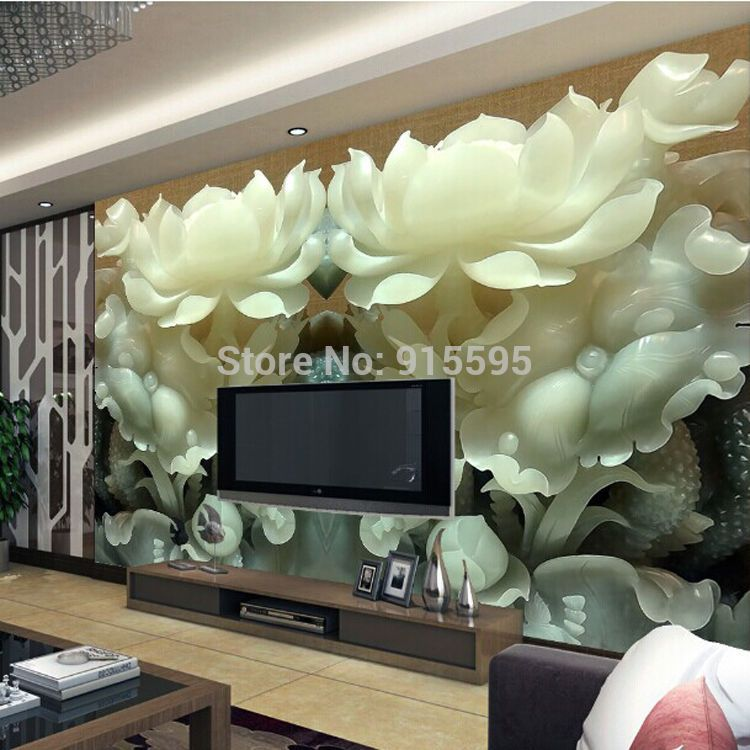 3D Wallpaper Mural Lotus Flowers Wall Paper Background Custom Size  #Unbranded Part 78
