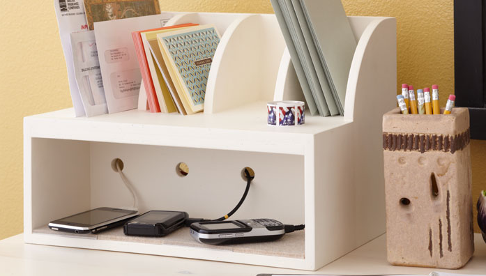 Diy Universal Charging Station And Mail Sorter Home Organization