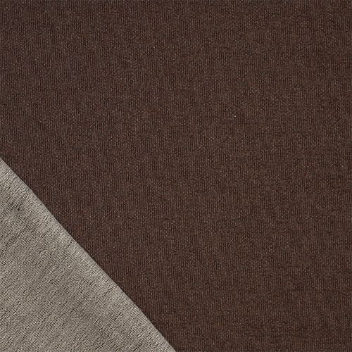 Heather Brown Cotton French Terry Knit Fabric A Charlee Designer Score Chocolate Color Spandex Blend