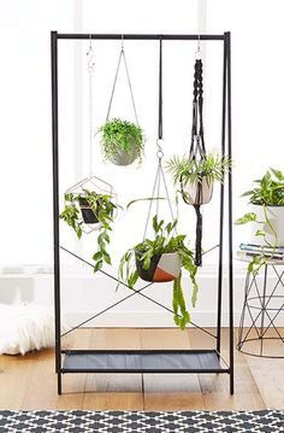 Cool Plant Stand Design Ideas for Indoor Houseplant ... on Hanging Plants Stand Design  id=81756