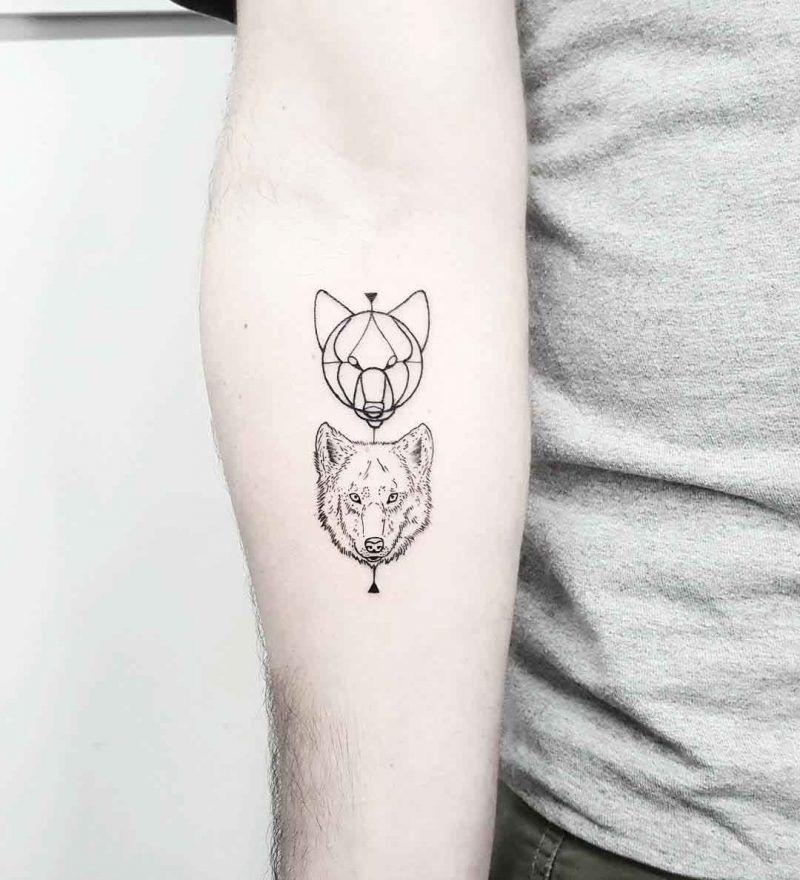 tattoo wolf tattoo motive tattoos frauen tattoos m nner. Black Bedroom Furniture Sets. Home Design Ideas