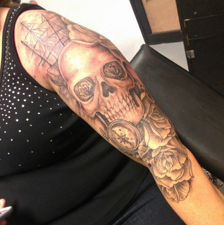 2nd Session Shading On My 3 4 Sleeve Pirate Tattoo Ink D Pirate